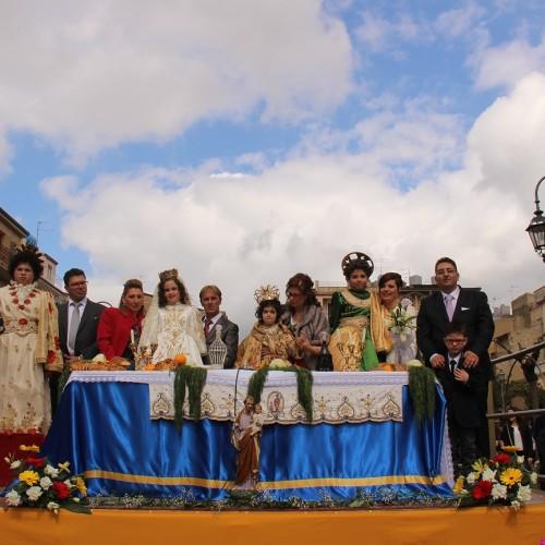 Festa di San Giuseppe: partecipata la sacra rappresentazione stamattina in piazza Regina Margherita: