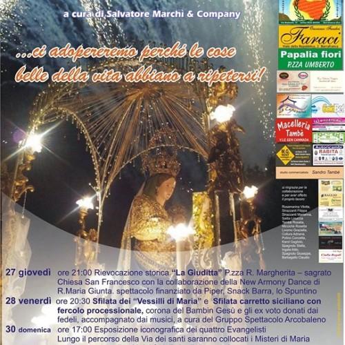 Festività in onore di Maria SS. Madre della Divina Grazia, tra fede, folklore e tradizioni- Programma