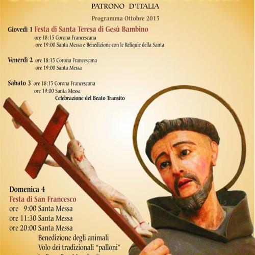 Programma festeggiamenti in onore di San Francesco d'Assisi