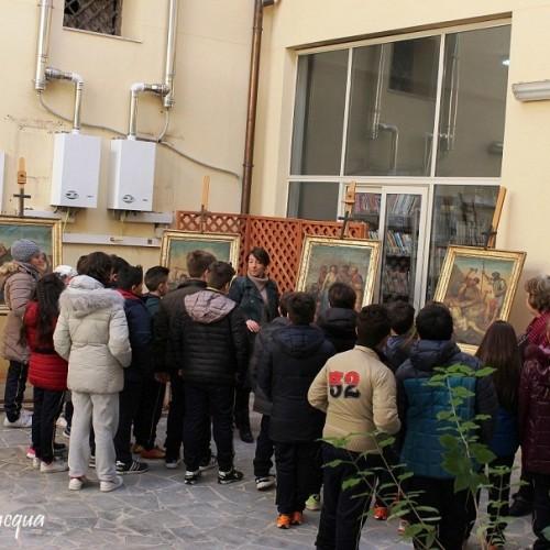 """Apertura della mostra """"La Via Crucis del Vaccaro"""" presso la sede della Biblioteca Comunale di Barrafranca."""