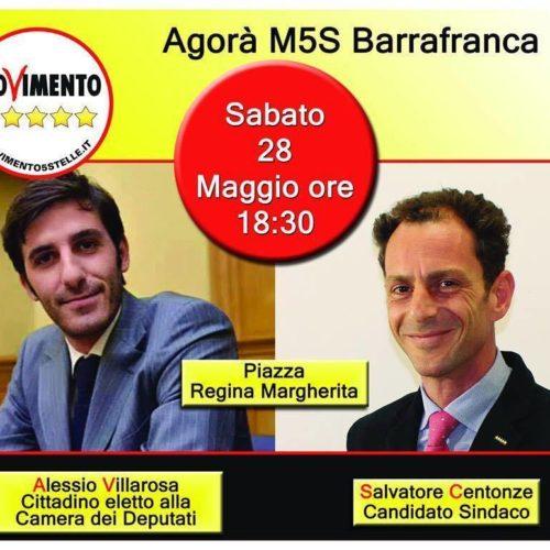 Comizio del M5S con il candidato a sindaco Salvatore Centonze dalle ore 19 alle ore 20