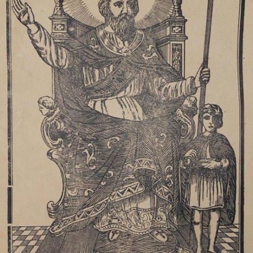 Antico santino di Sant'Alessandro, patrono di Barrafranca