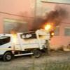 """Prende fuoco camion di rifiuti nella struttura """"ex Amandes"""""""