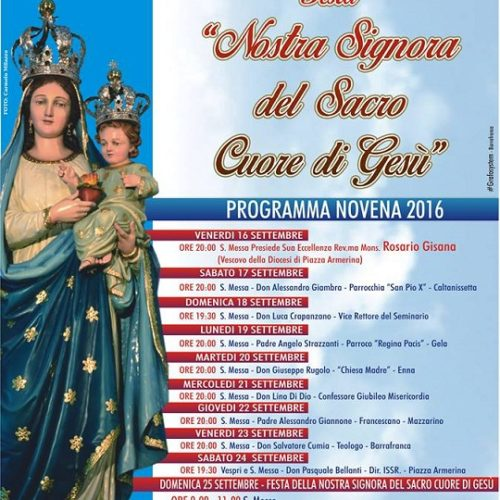 Festa Nostra Signora del Sacro Cuore, città di Barrafranca