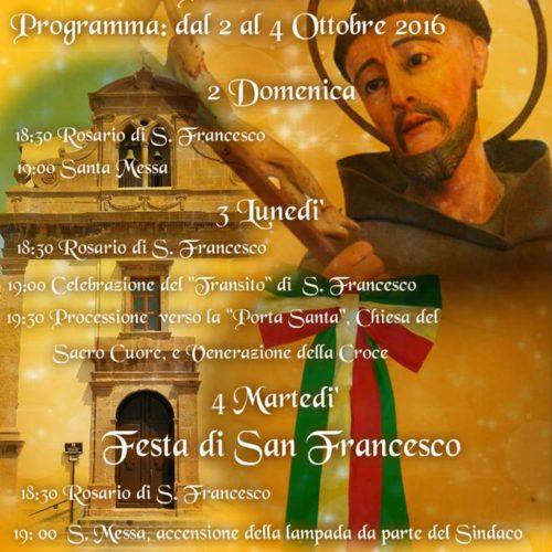 Barrafranca festeggia San Francesco d'Assisi