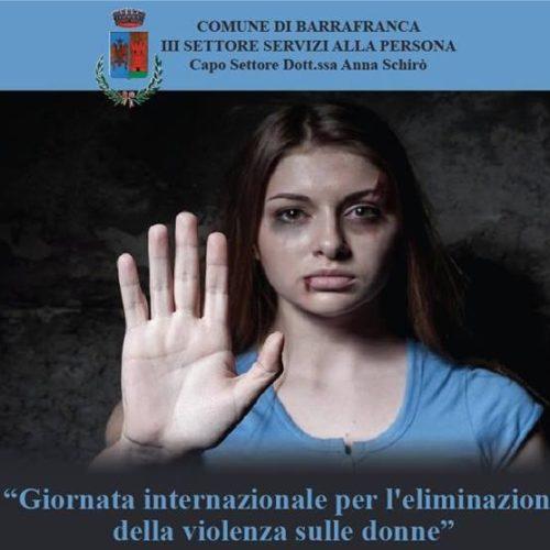 25 novembre Giornata Internazionale per l'eliminazione della violenza sulle Donne