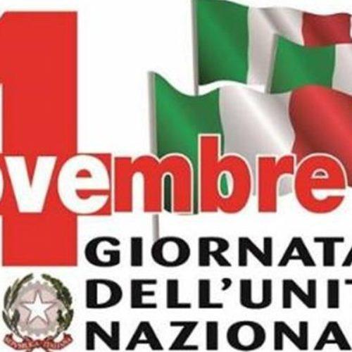"""Il programma delle celebrazioni del 4 Novembre per la Festa delle Forze Armate e la """"Giornata dell'Unità  Nazionale"""""""