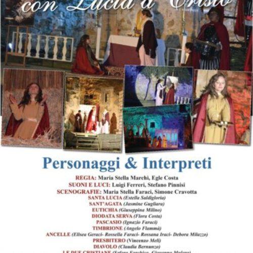 """Recital """"Con Lucia a Cristo""""- parrocchia Maria SS. della Stella"""