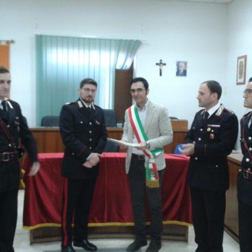 Cittadinanza onoraria conferita al vicebrigadiere dei carabinieri Domenico Mitola