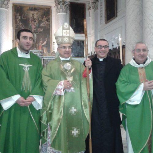 Messa per il saluto in chiesa Madre a don Giuseppe Rabita che va a Palermo dopo aver ricevuto un nuovo incarico dalla Cesi