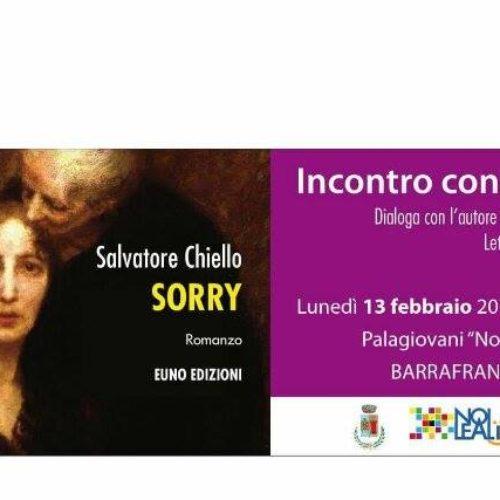 """Al Palagiovani la presentazione di """"Sorry"""" di Salvatore Chiello"""
