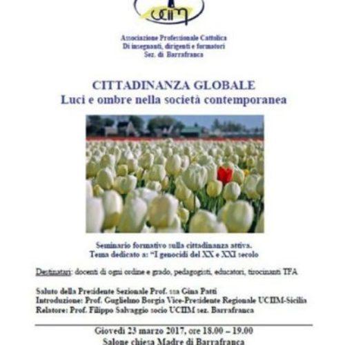 Seminario formativo sulla cittadinanza attiva organizzato dall UCIIM sez. di Barrafranca