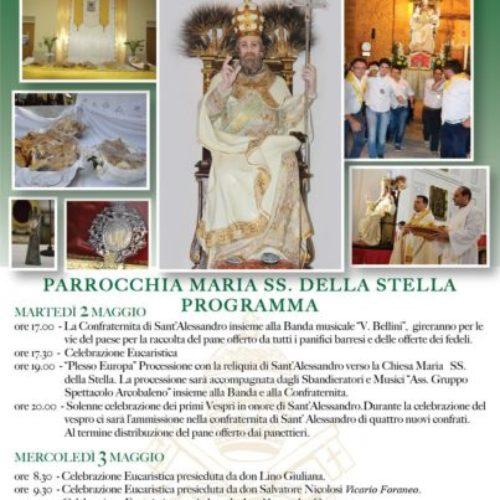 Festeggiamenti in onore di Sant'Alessandro, patrono di Barrafranca- anno 2017