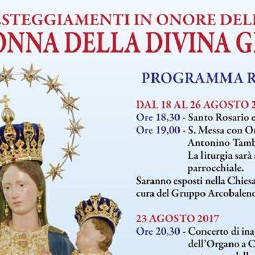 """Programma religioso festeggiamenti """"Madonna della Divina Grazia"""" di Barrafranca"""