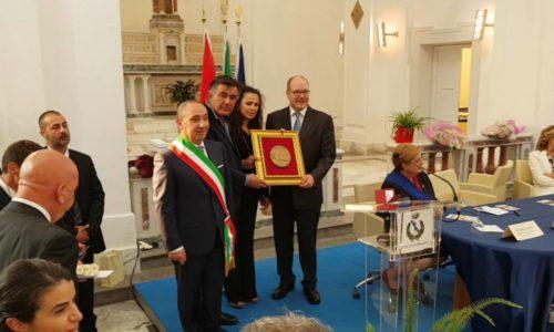 Mazzarino – La visita del principe Alberto II di Monaco