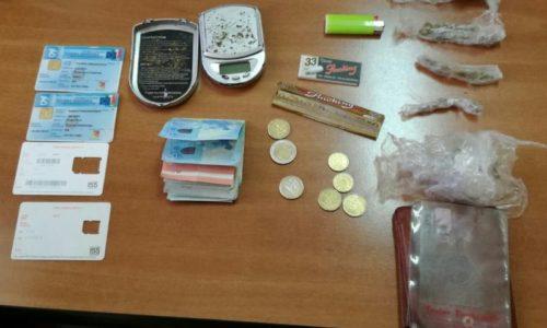 VALGUARNERA: arrestato giovane incensurato responsabile di detenzione ai fini di spaccio di sostanze stupefacenti.