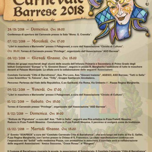 Video/ Si respira Aria di festa per la presentazione del carnevale Barrese 2018