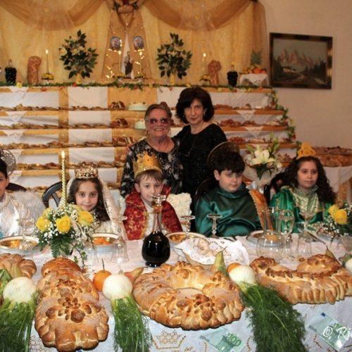 """La tradizionale """"tavola di San Giuseppe"""" della devota Giuseppina Gesualdo, vedova Messina"""