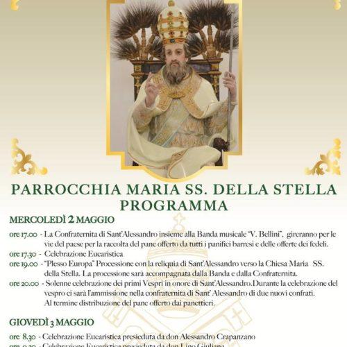 Festeggiamenti in onore di Sant'Alessandro, patrono di Barrafranca