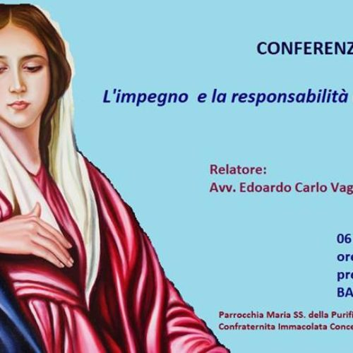 """Conferenza:  """"L'impegno e la responsabilità educativa in Maria"""""""