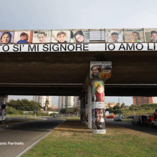Catania. LA STREET ART CHE S'ISPIRA ALLA PREGHIERAA LIBRINO IL CANTICO ARTISTICO IN NOME DI SAN FRANCESCO