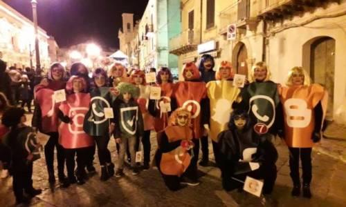 PIETRAPERZIA. Quattro gruppi in maschera al carnevale pietrino 2019.