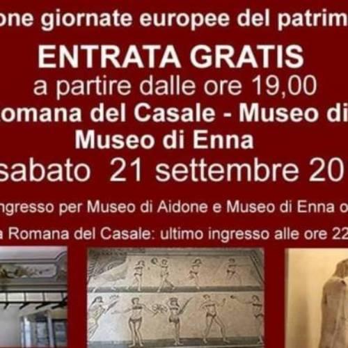 Il 21 settembre a partire dalle ore 19.00 saranno aperti gratuitamente la Villa Romane del Casale e i Musei di Aidone e Enna