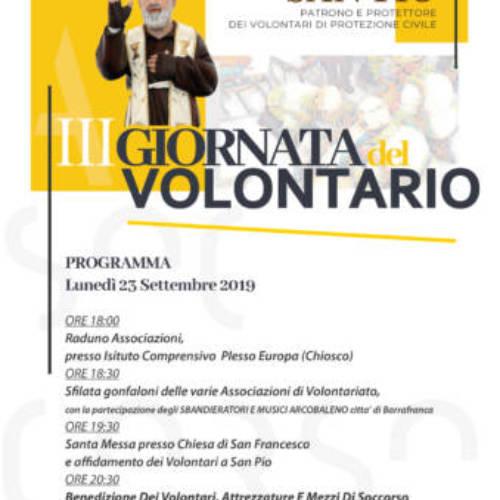 Barrafranca. La terza edizione della Giornata del Volontariato