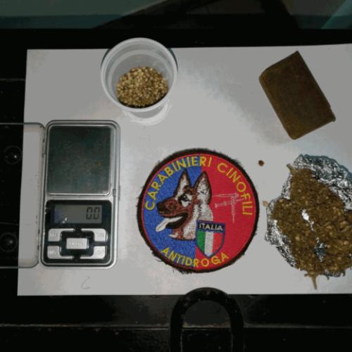 Giovane villarosano arrestato per detenzione ai fini di spaccio di stupefacenti.
