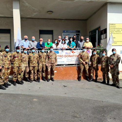 Caltanissetta. Esercito, i bersaglieri dell'Aosta donano il sangue