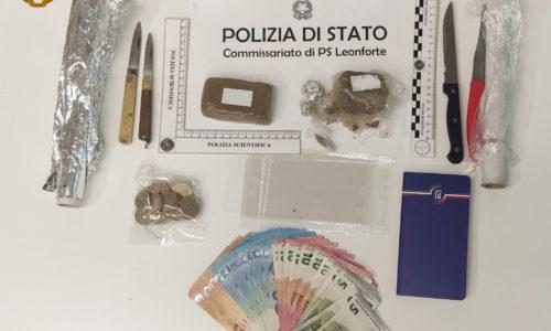 """LA POLIZIA DI STATO ARRESTA A LEONFORTE UNA PERSONA PER DETENZIONE E SPACCIO DI """"HASHISH"""""""
