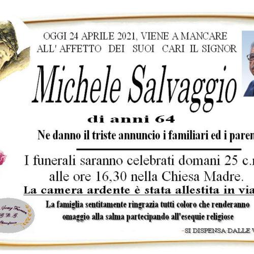 Annuncio servizi funerari agenzia G.B.G. sig Salvaggio Michele di anni 64