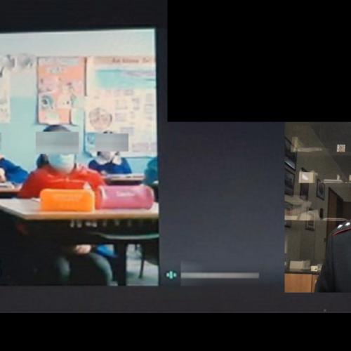 """Barrafranca. Video-lezione con i ragazzi dell'Istituto Comprensivo San Giovanni Bosco di Barrafranca. Trattati gli argomenti quali la """"Criminalità Organizzata, il Cyberbullismo e la cd. Social-Addiction"""" ."""