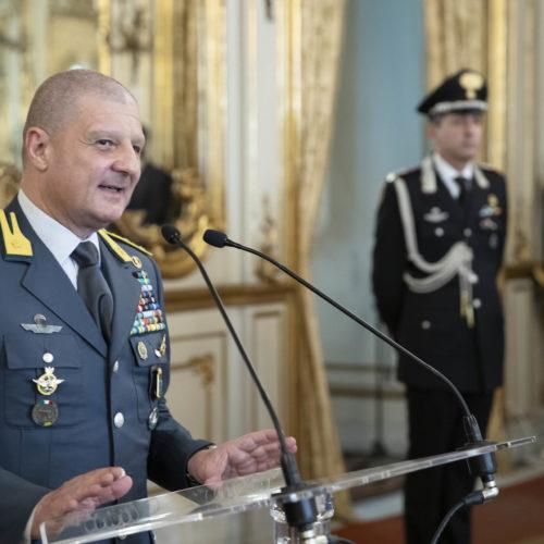 ROMA. Dichiarazione del comandante generale della Guardia di Finanza Generale di  Corpo di Armata Giuseppe Zafarana.